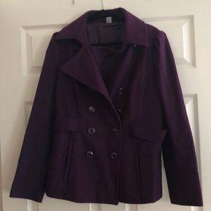 Purple pea coat